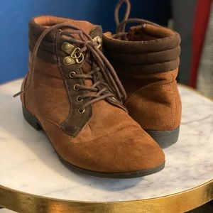 Forever 21 Trendy brown ankle booties